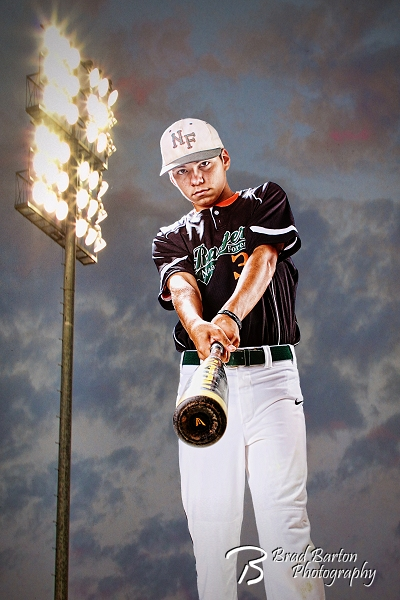 High School Baseball Portrait