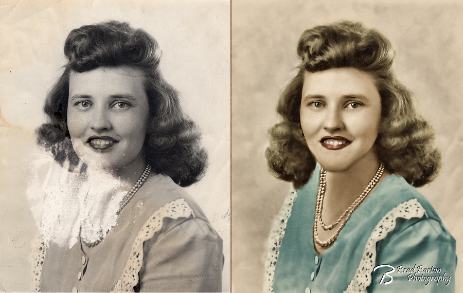 Arlington Fort Worth Grand Prairie Photo Restoration Side by Side