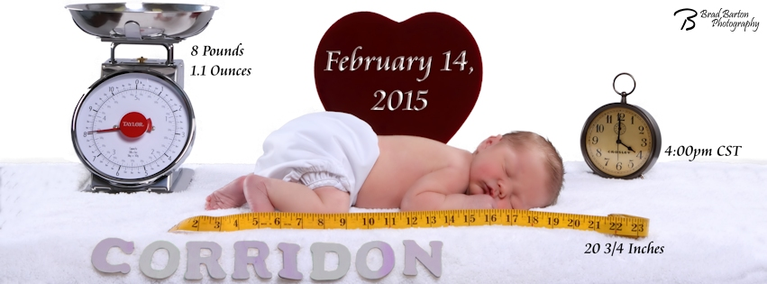 Baby Announcement Grand Prairie Photographer Corridon