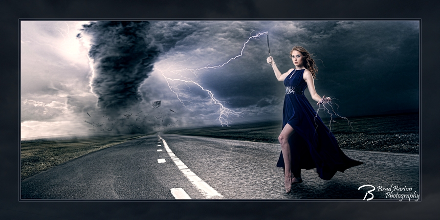 Dallas Conceptual Photography - Queen of the Storm