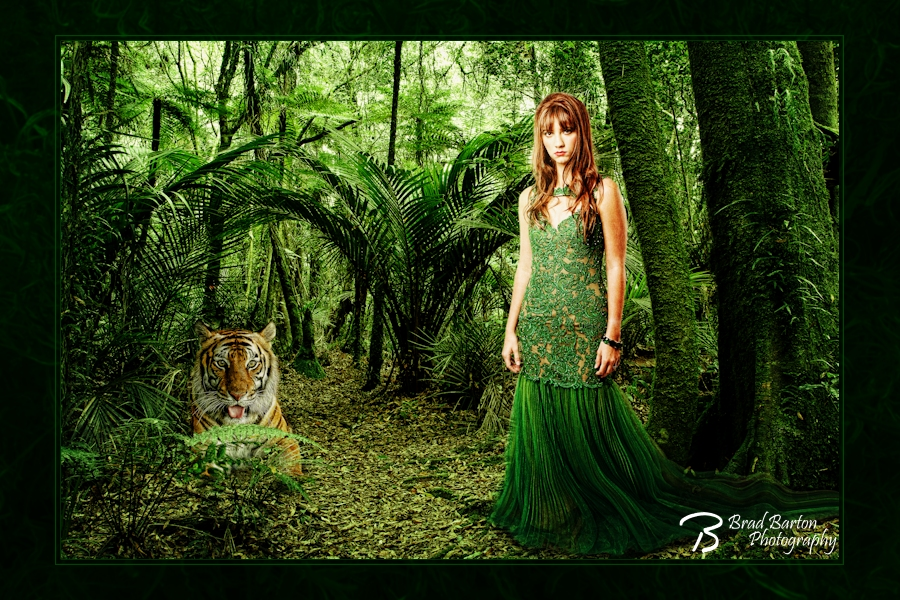 Dallas Fort Worth Arlington Conceptual Senior Photographer - Queen of the Jungle