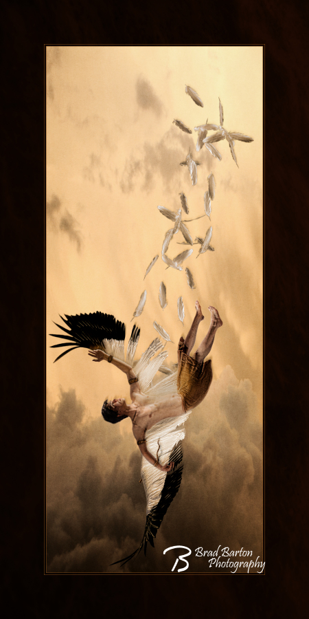 The Fall of Icarus - Mythology Hero Conceptual Photography Dallas