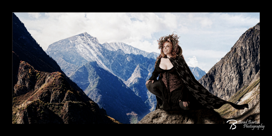 Queen of the Mountain - Dallas Fort Worth Epic Photography Conceptual Fantasy Composite