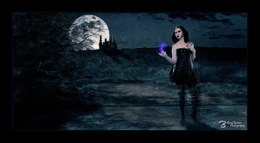 Queen of the Night - Brad Barton Dallas Conceptual Photographer Vampire Witch Sorceress