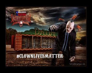 dallas-halloween-photography-clown-lives-matter-drive-in-creature-feature
